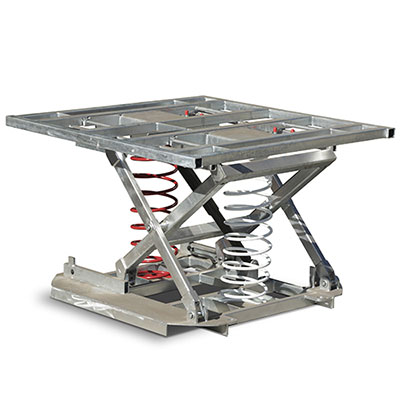 Square Top Palift. Safely lift up to 2000kg on a 1046mm x 1060mm (L X W) platform