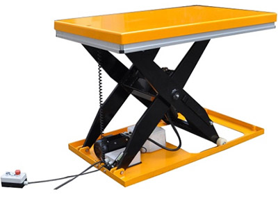 Single scissor lift table. Lift up to 3000 kg