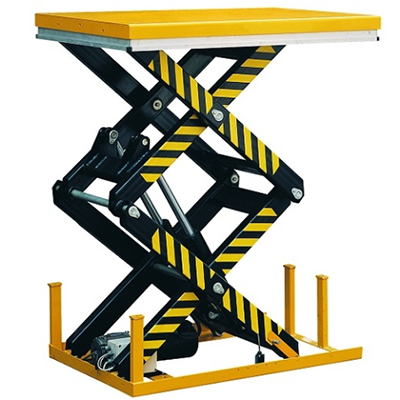 Double scissor lift table. Lift up to 4000 kg