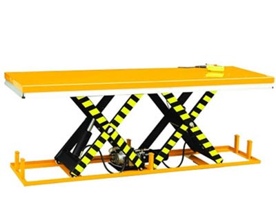 Extra wide scissor lift table. Lift up to 4000 kg