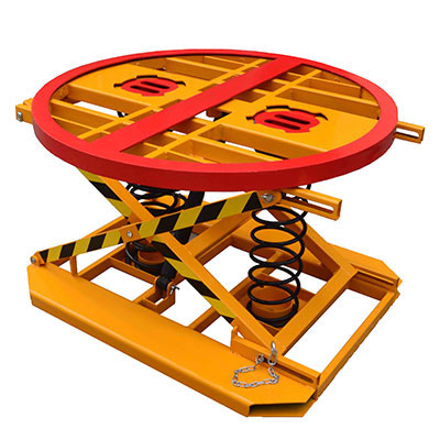 Spring-loaded turntable pallet positioner 2000kg capacity