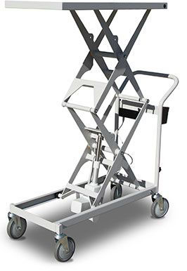 Battery powered scissor lift: SLB100