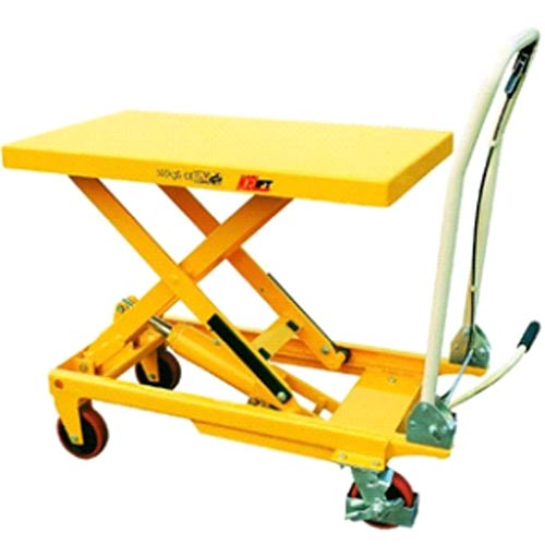 Manual scissor lift trolley: SLM500. Scissor Lifts Australia